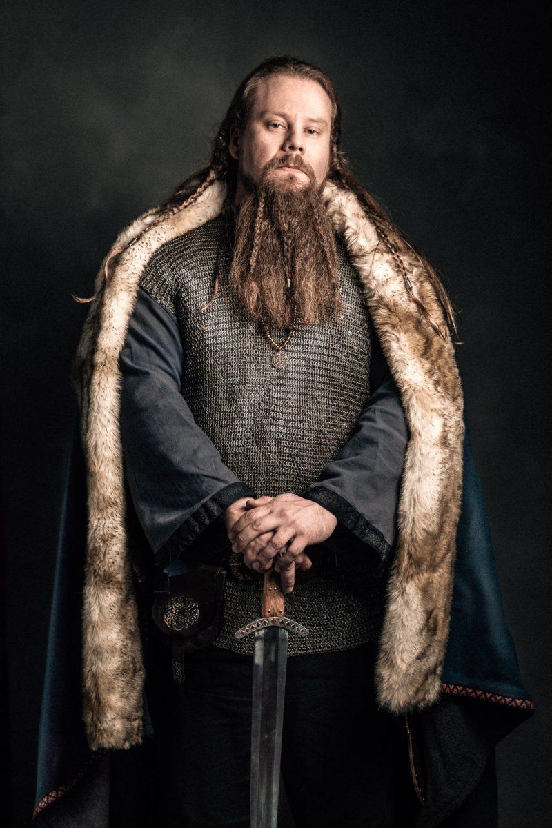 Portrait of viking chief viikinkipäällikkö Rosala viikinkikeskus