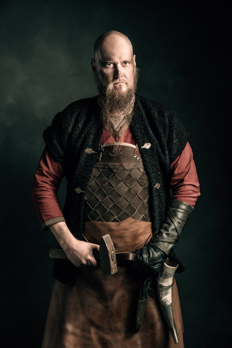 portrait of viking blacksmith viikinki Rosala viking center