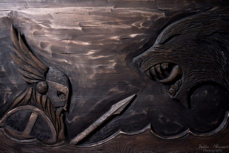 viking furniture details viking warrior and wolf puustikki